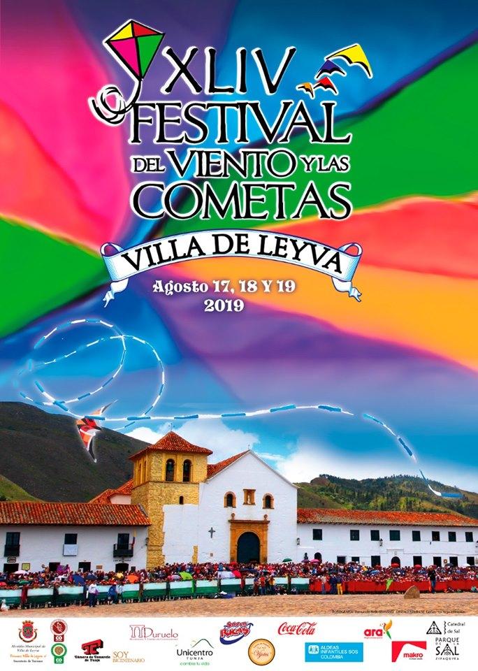 Afiche oficial del Festival de Cometas de Villa de Leyva